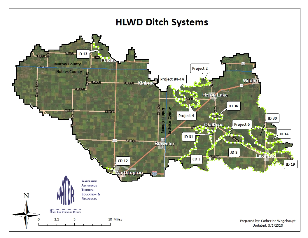 Judicial and County Ditch Improvement Project Locations